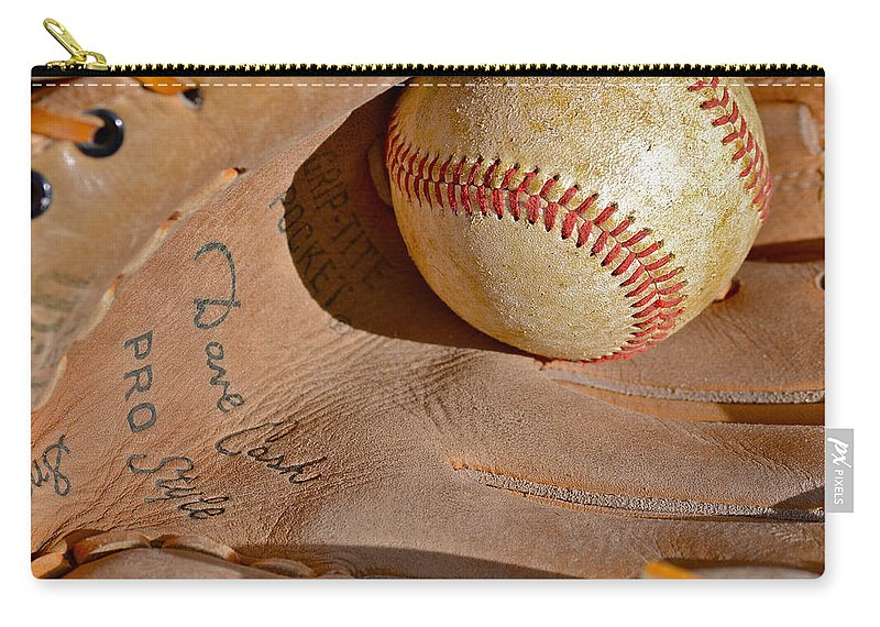 Can Of Corn Carry-all Pouch featuring the photograph Dave Cash Mitt by Bill Owen