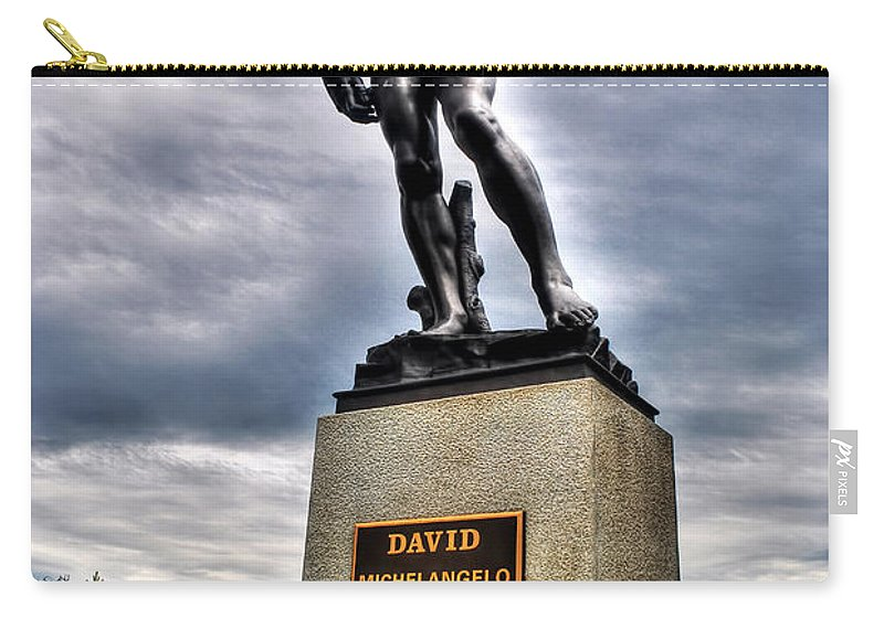 Carry-all Pouch featuring the photograph David by Michael Frank Jr