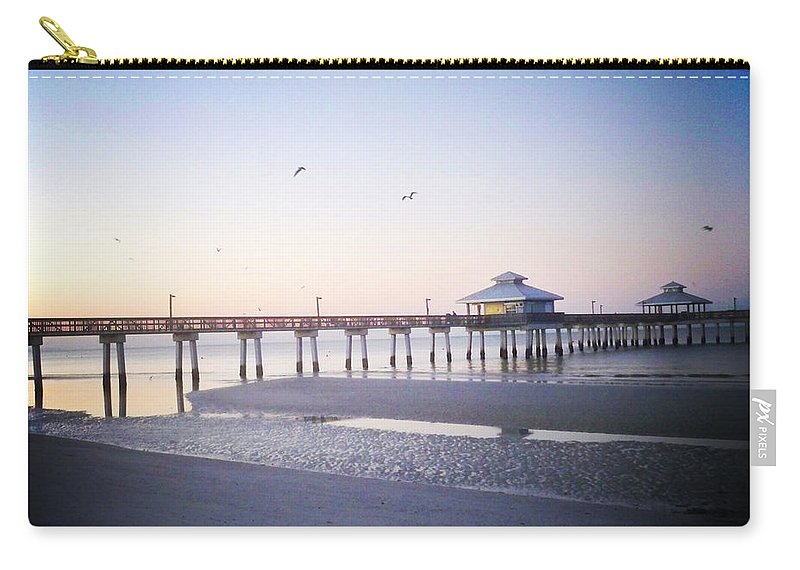 Florida Carry-all Pouch featuring the photograph Dawn Breaking Vanilla Pop by Chris Andruskiewicz