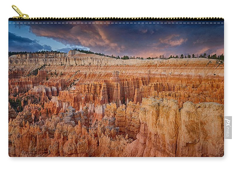 Stalking Light Photography Carry-all Pouch featuring the photograph Dawns Early Light by Charlie Choc