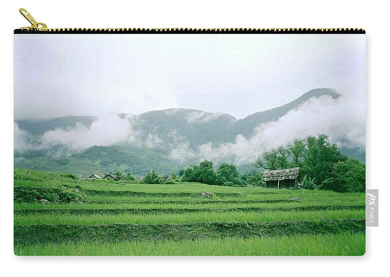 Color Carry-all Pouch featuring the photograph Daybreak In Sapa by Shaun Higson