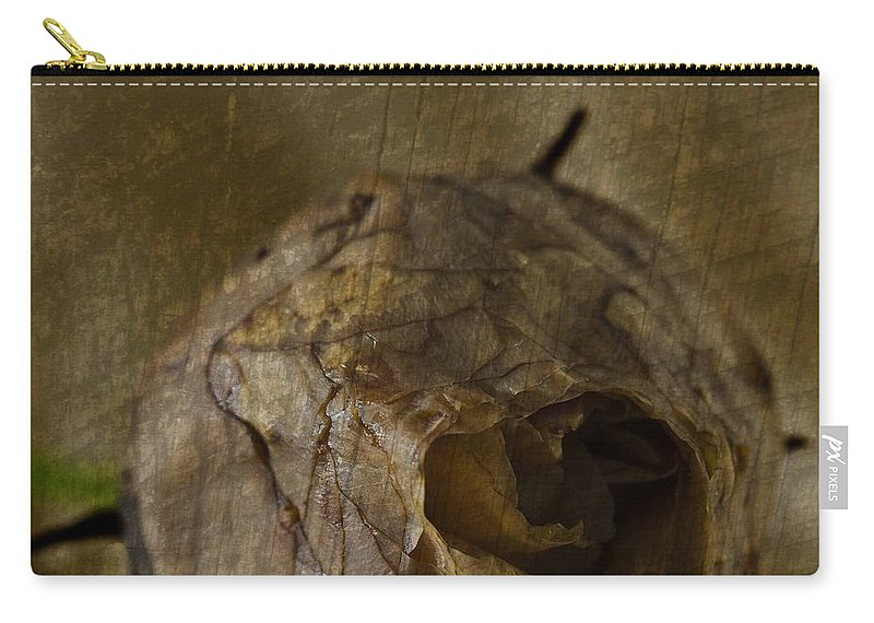 Rosebud Carry-all Pouch featuring the photograph Dead Rosebud by Steve Purnell