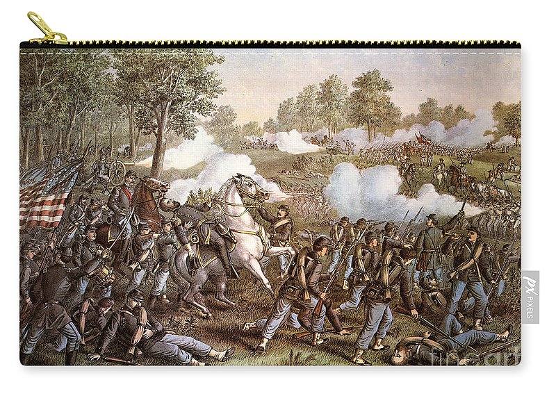 1861 Carry-all Pouch featuring the photograph Death Of N. Lyon, 1861 by Granger