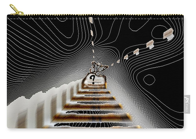 Painting Carry-all Pouch featuring the digital art Decisions No. 3 by Paula Ayers