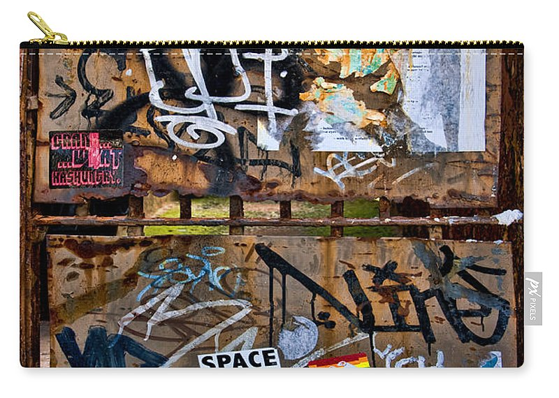 Gate Carry-all Pouch featuring the photograph Decorated Veteran by S Paul Sahm