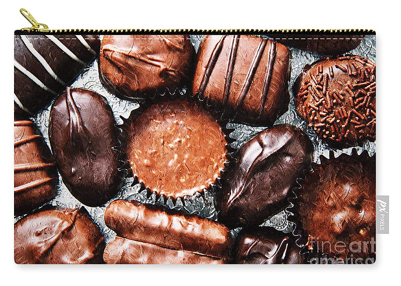 Andee Design Candy Carry-all Pouch featuring the photograph Deep Rich Chocolates by Andee Design