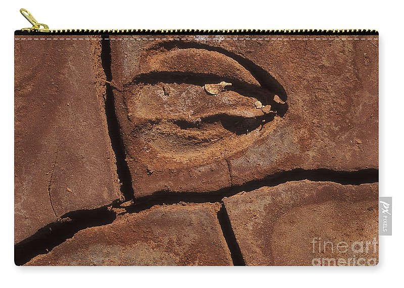Sandra Bronstein Carry-all Pouch featuring the photograph Deer Imprint In Mud by Sandra Bronstein