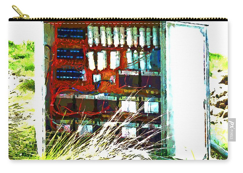 Demolition Carry-all Pouch featuring the photograph Defused Box by Steve Taylor