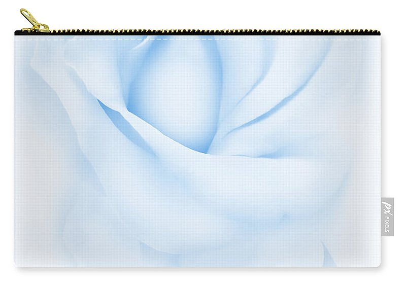 Rose Carry-all Pouch featuring the photograph Delicate Blue Rose Flower by Jennie Marie Schell