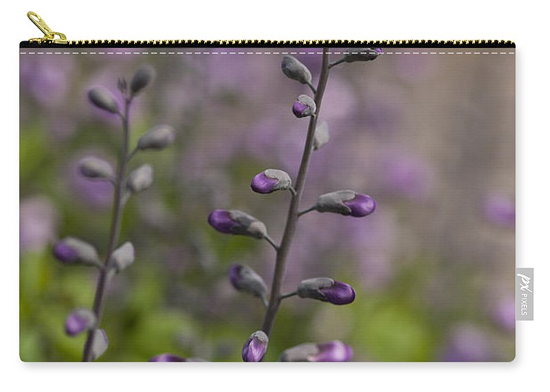 Flower Carry-all Pouch featuring the photograph Delphinium Haze by Mike Reid