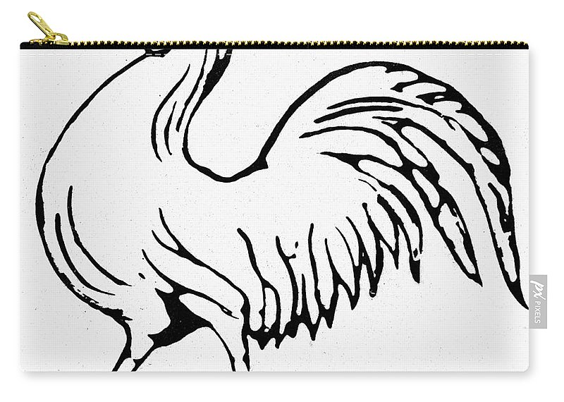 1844 Carry-all Pouch featuring the photograph Democratic Rooster, 1840 by Granger