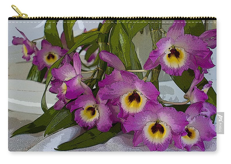 Orchids Carry-all Pouch featuring the photograph Dendrobium Delight by Jo Smoley