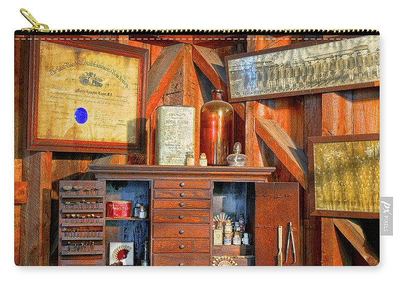 Dental Cabinet Carry-all Pouch featuring the photograph Dental Cabinet by Dave Mills