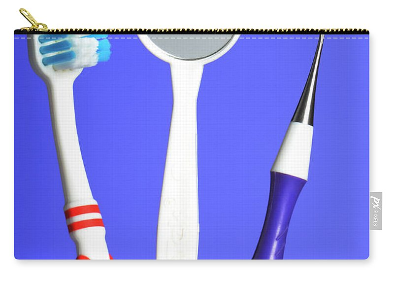 Angled Mirror Carry-all Pouch featuring the photograph Dental Equipment by Photo Researchers, Inc.