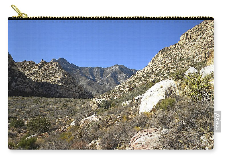 Frank Wilson Carry-all Pouch featuring the photograph Desert And Mountains by Frank Wilson