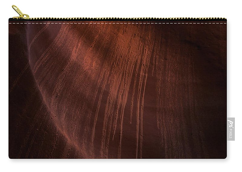 Antelope Canyon Carry-all Pouch featuring the photograph Desert Rain by Mike Dawson