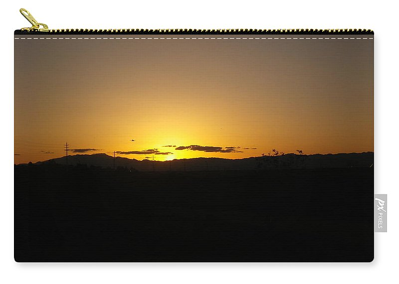 Desert Carry-all Pouch featuring the photograph Desert Sunrise by Jonathan Barnes