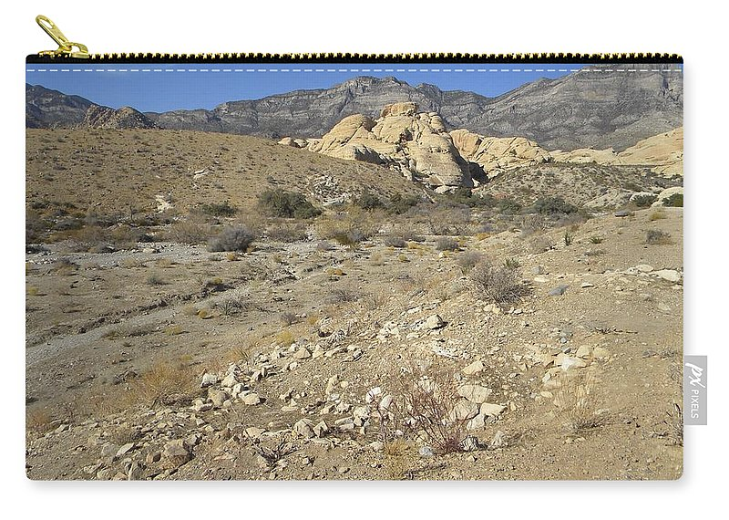 Desert Carry-all Pouch featuring the photograph Desert Washout by Frank Wilson