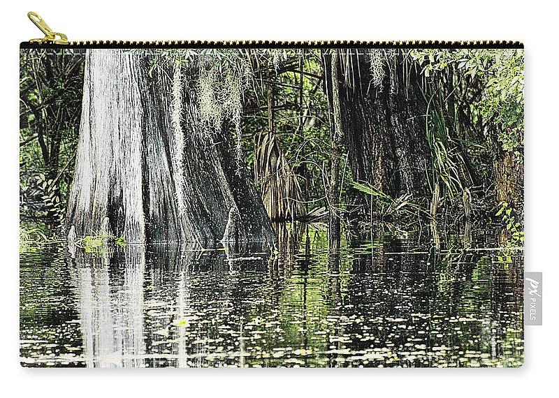 River Carry-all Pouch featuring the photograph Details Of A Florida River by Janie Johnson