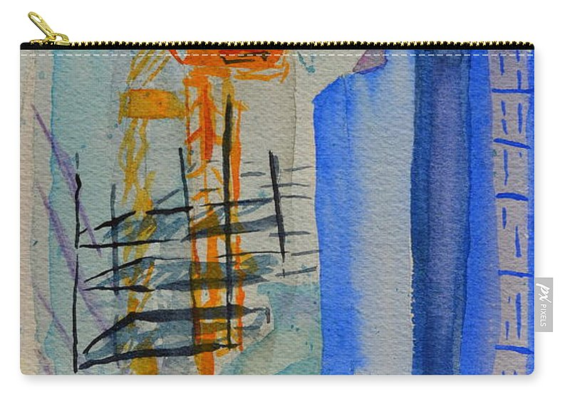Cranes Carry-all Pouch featuring the painting Development by Beverley Harper Tinsley