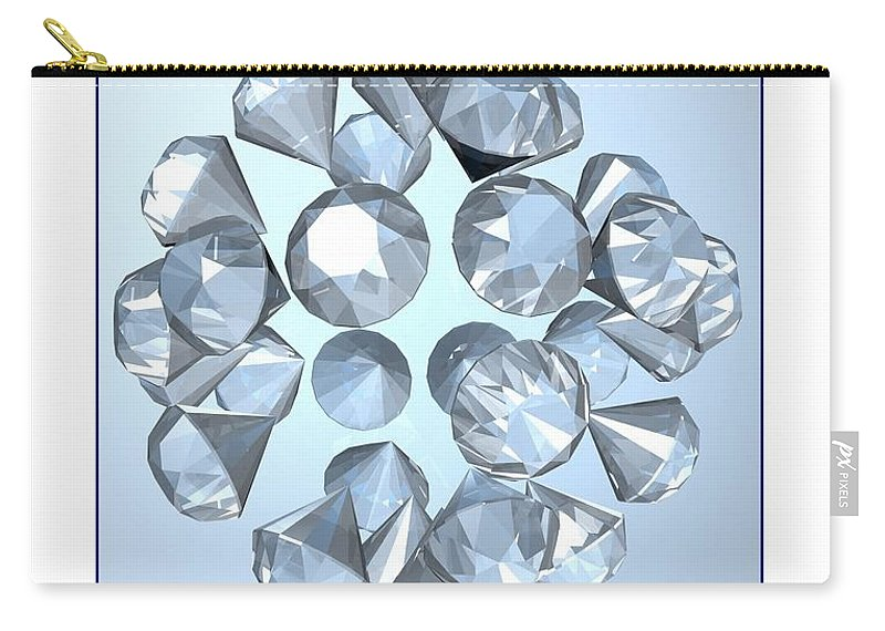 Abstract Carry-all Pouch featuring the digital art Diamonds... by Tim Fillingim
