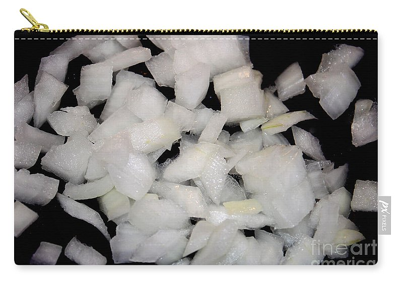 Onion Carry-all Pouch featuring the photograph Diced Onions by Henrik Lehnerer