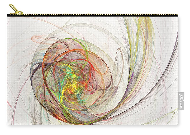 Fractal Carry-all Pouch featuring the digital art Diffusion by Betsy Knapp