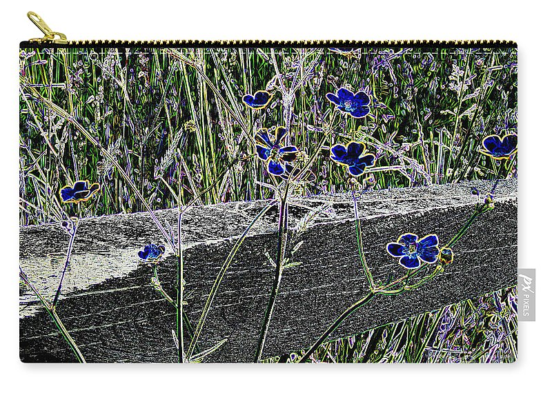 Digital Carry-all Pouch featuring the photograph Digital Daisies by Art Dingo