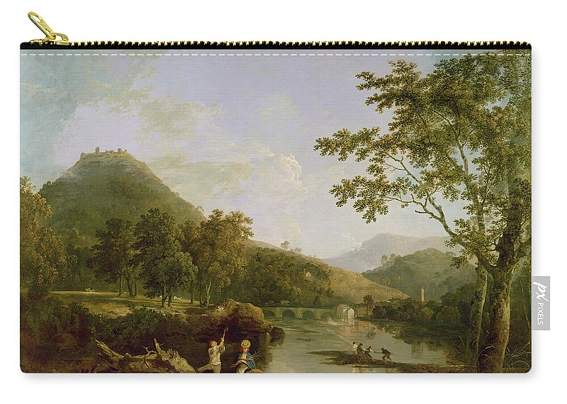 Xyc118504 Carry-all Pouch featuring the photograph Dinas Bran From Llangollen by Richard Wilson