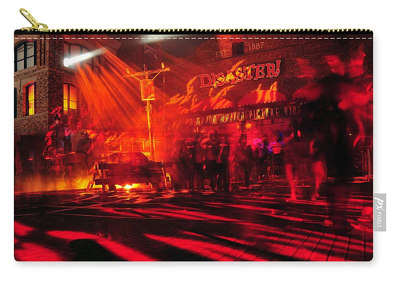 Fine Art Photography Carry-all Pouch featuring the photograph Disaster In The Streets by David Lee Thompson