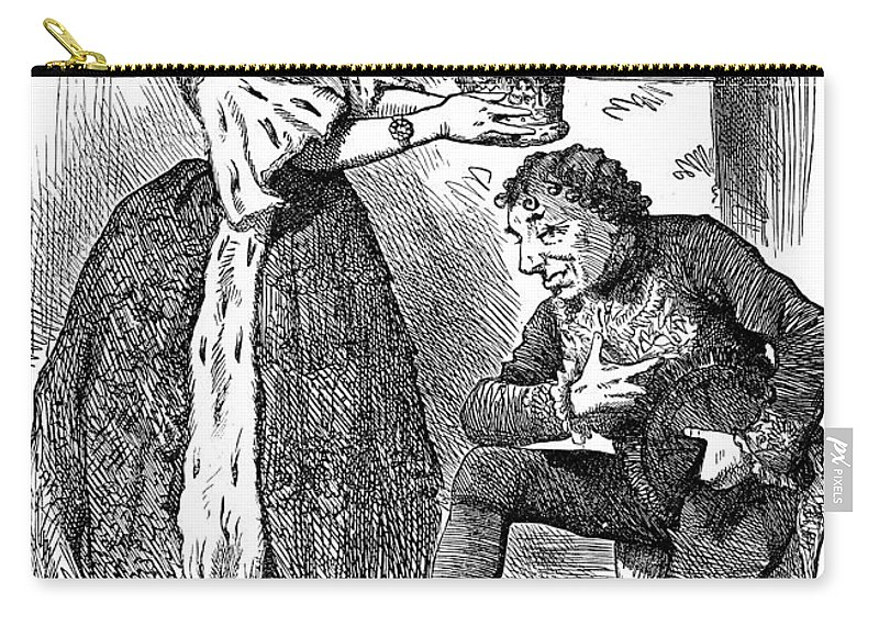 1876 Carry-all Pouch featuring the photograph Disraeli Cartoon, 1876 by Granger