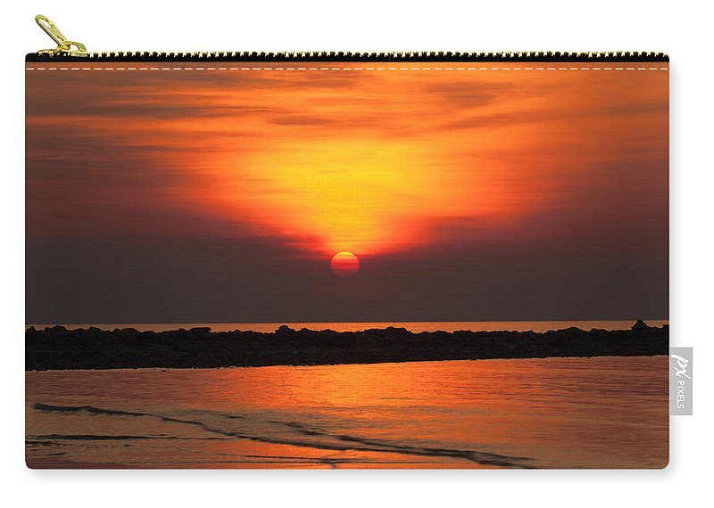 Sunset Carry-all Pouch featuring the photograph Distant Sun by Douglas Barnard