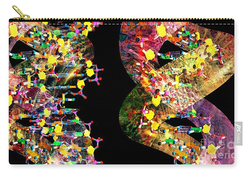 Abstract Carry-all Pouch featuring the digital art Dna Dreaming 1 by Russell Kightley