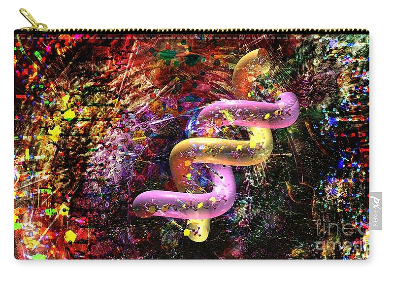 Abstract Carry-all Pouch featuring the digital art Dna Dreaming 6 by Russell Kightley