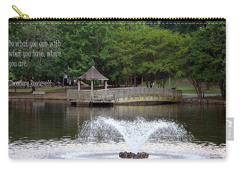 Do Carry-all Pouch featuring the photograph Do What You Can by Maria Urso