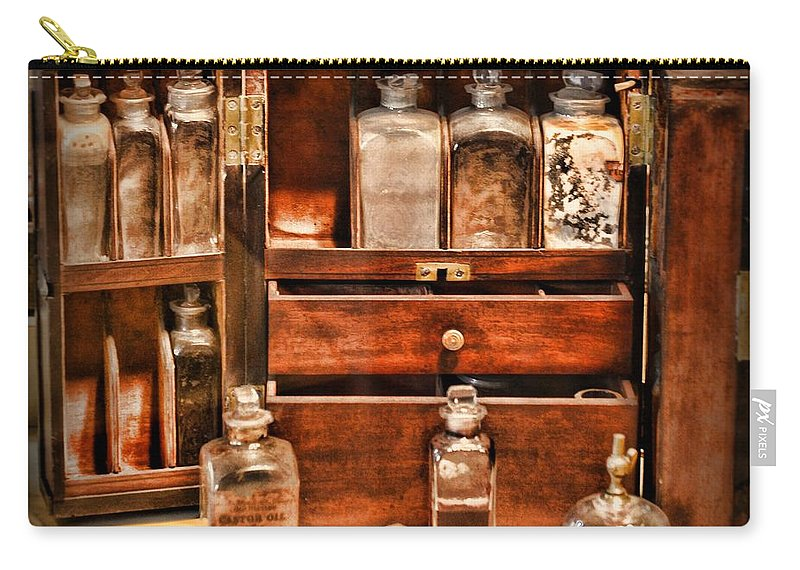 Paul Ward Carry-all Pouch featuring the photograph Doctor - The Medicine Cabinet by Paul Ward