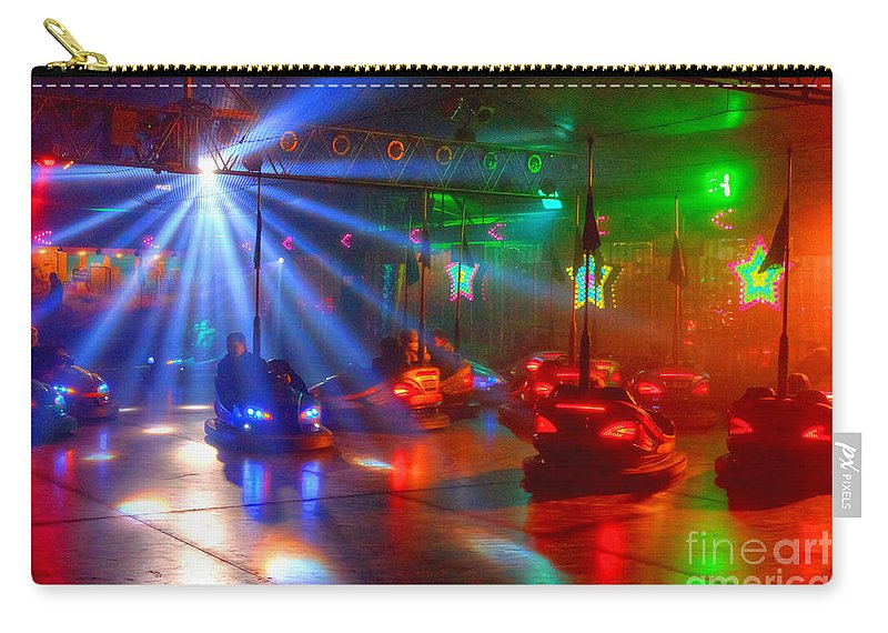 Dodgems Carry-all Pouch featuring the photograph Dodgems by Rob Hawkins