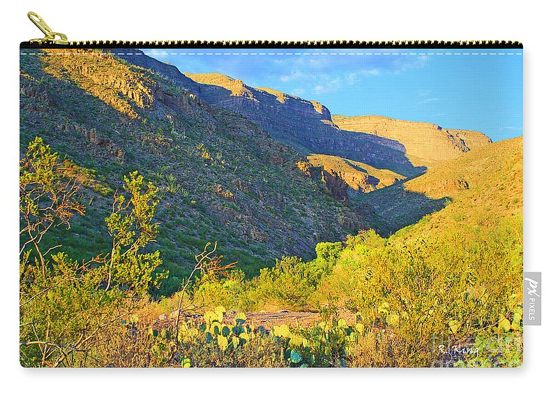 Roena King Carry-all Pouch featuring the photograph Dog Canyon Nm Oliver Lee Memorial State Park by Roena King