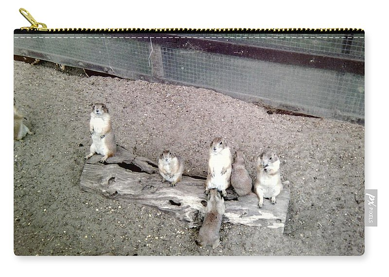 Prairie Dog Carry-all Pouch featuring the photograph Doggin It by Bonfire Photography