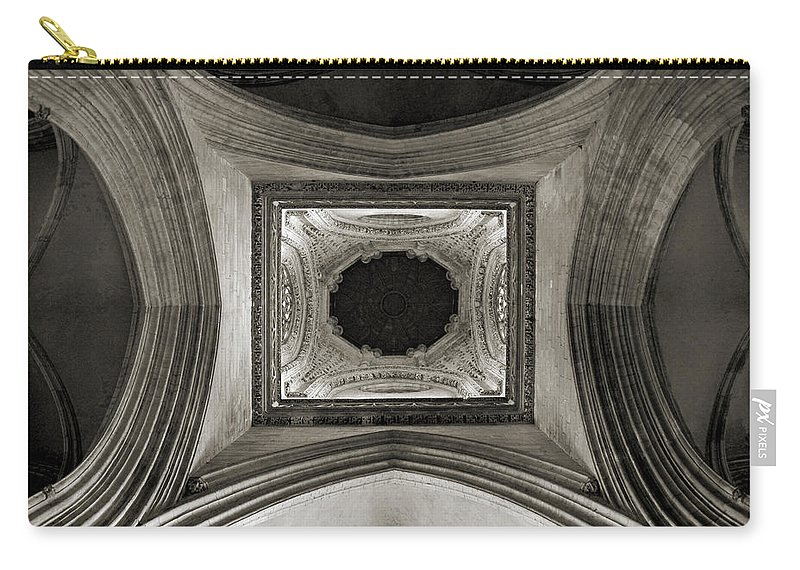 Dome Carry-all Pouch featuring the photograph Dome In Saint Jean Church - Caen by RicardMN Photography