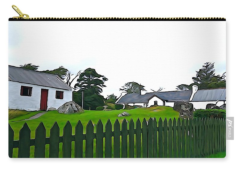 Fence Carry-all Pouch featuring the photograph Donegal Home by Charlie and Norma Brock