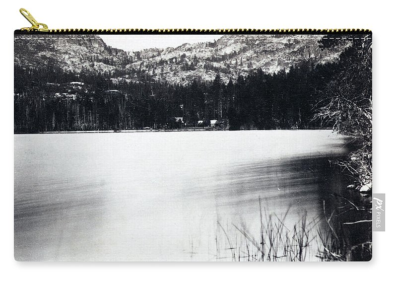 donner Lake Carry-all Pouch featuring the photograph Donner Lake And Pass - California - C 1865 by International Images
