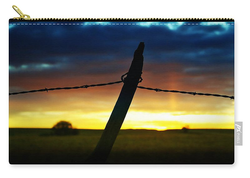 Sunrise Carry-all Pouch featuring the photograph Don't Fence Me In by Ellen Heaverlo