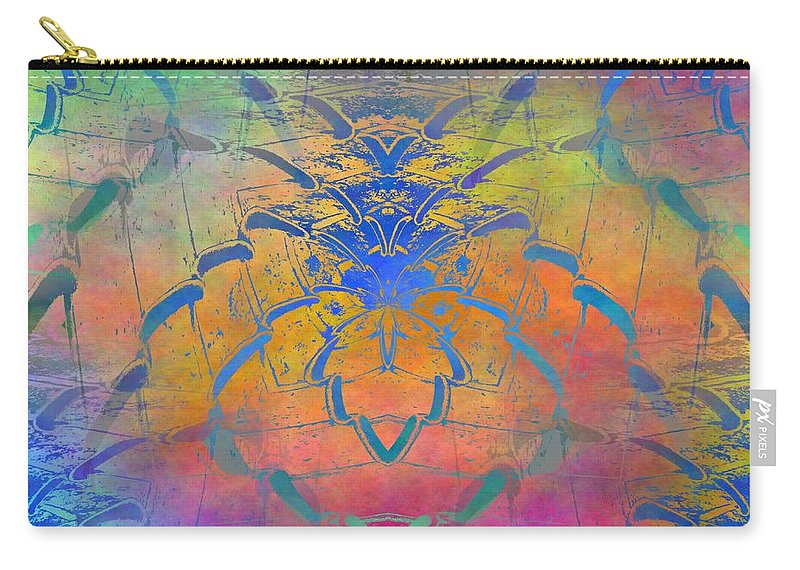 Fence Carry-all Pouch featuring the digital art Dont Fence Me In by Tim Allen