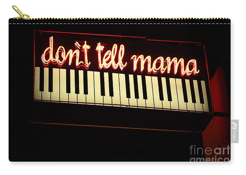 Dont Tell Mama Carry-all Pouch featuring the photograph Dont Tell Mama by Bob Christopher