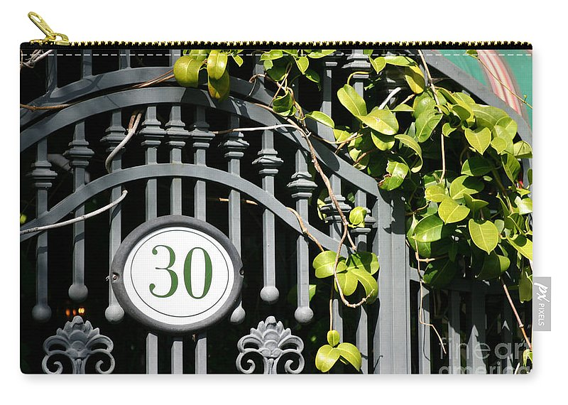 Ancient Carry-all Pouch featuring the photograph Door 30 by Henrik Lehnerer