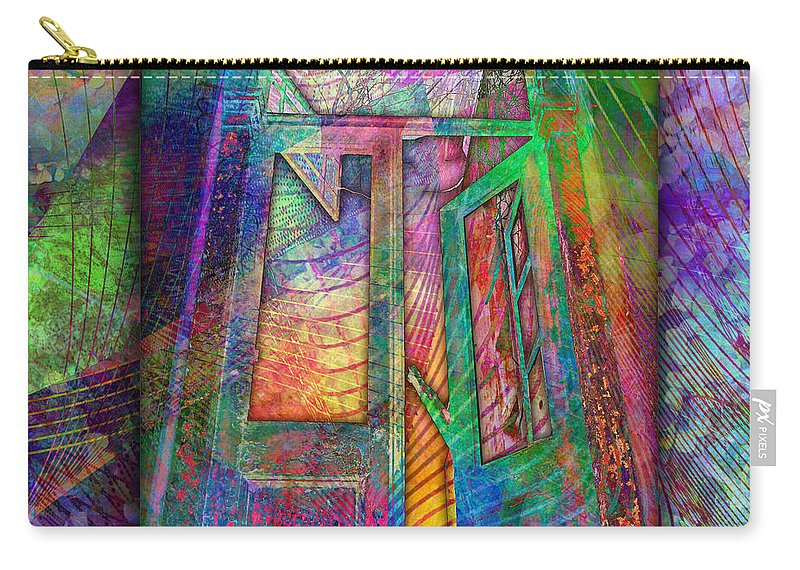 Door Carry-all Pouch featuring the digital art Door To The Lightness Of Being by Barbara Berney