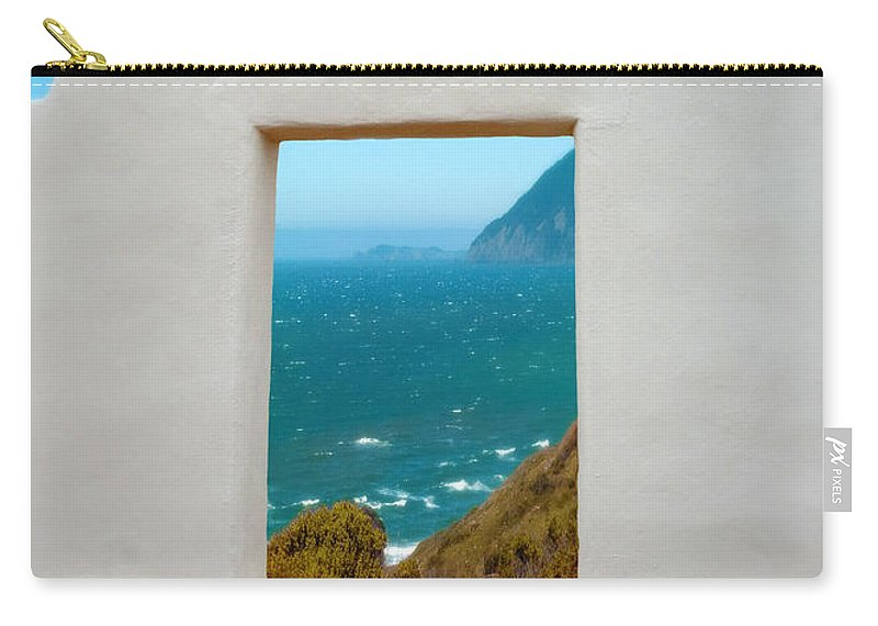 Door Carry-all Pouch featuring the photograph Door To The Sea by Jill Battaglia