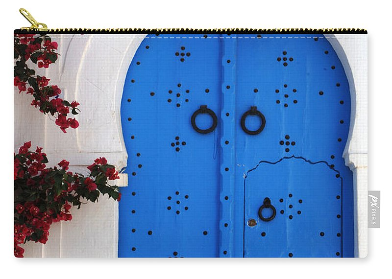Door Carry-all Pouch featuring the photograph Doorway In Tunisia 1 by Bob Christopher