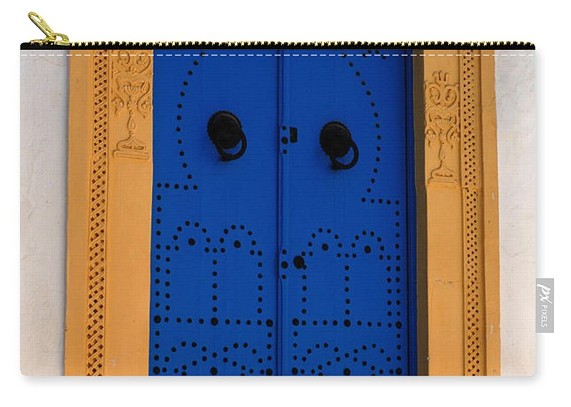 Door Carry-all Pouch featuring the photograph Doorway In Tunisia 2 by Bob Christopher